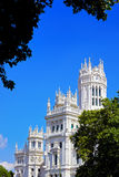 The palace in plaza Cibeles at Madrid, Spain Royalty Free Stock Image
