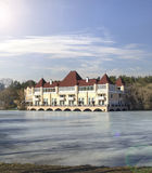 Palace on the pond at ENEA. Moscow, Russia Royalty Free Stock Image
