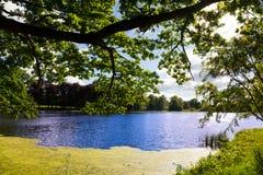 Palace pond Machern Royalty Free Stock Images