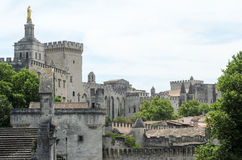Palace of Pope at Avignon on France Royalty Free Stock Photos