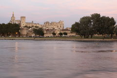 Palace of the Popes in Avignon. The Palace of the Popes or The Palais des Papes is a historical palace in Avignon, southern France, one of the largest and most Royalty Free Stock Photos