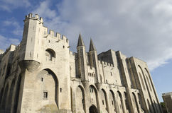Palace of the popes in Avignon. City, Provence, France Royalty Free Stock Photography
