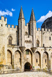 Palace of the Popes. At Avignon, famous christian landmark in France Stock Images