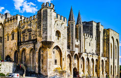 Palace of the Popes. At Avignon, famous christian landmark in France Royalty Free Stock Images