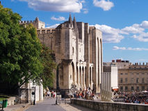 Palace of the Popes in Avignon, France. Unesco world heritage site Royalty Free Stock Images