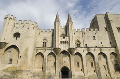 Palace of the popes in Avignon, France Royalty Free Stock Photos