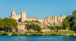 Palace of the Popes in Avignon. France Stock Images