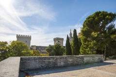 Palace of Popes, Avignon, France Stock Images