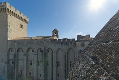 Palace of the Popes of Avignon roof - Camargue - Provence - France. View of Palace of the Popes of Avignon roof - Camargue - Provence - France Stock Photography