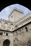 The palace of the popes in Avignon Stock Photography