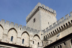 Palace of the popes (Palais des Papes) in Avignon Royalty Free Stock Images