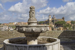 Palace of the Popesi n Viterbo stock photography