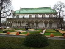Palace in Prague. Beautiful old building in Prague Royalty Free Stock Photo