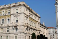 Palace of the Prefecture of Trieste in Friuli Venezia Giulia (Italy) Royalty Free Stock Image