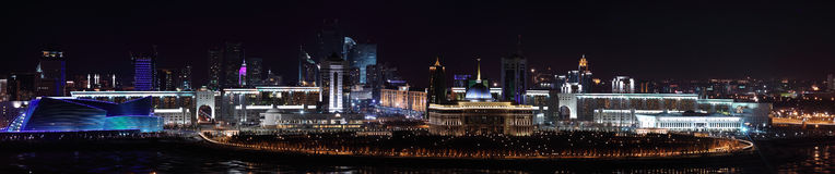 Palace of President of Kazakhstan. Ak Orda and the central part of the city of Astana Stock Image