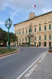 Palace of the Prime Minister of Malta. Perfect view of Palace of the Prime Minister of Malta Royalty Free Stock Images