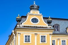 Menshikov palace in Saint-Peterburg, Russia. The Palace of Prince Alexander Menshikov in the arly baroque architectural style, first stone building in the city stock photo