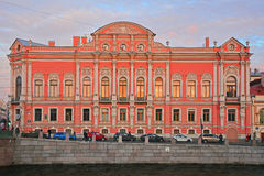 Palace of princes Beloselsky -Belozersky on Nevsky Avenue at Fontanka River in Saint Petersburg, Russia Stock Photos