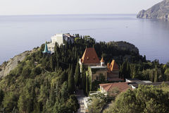 Palace of Princess Gagarin at Cape Plaka. Crimea. Ukraine Royalty Free Stock Photography