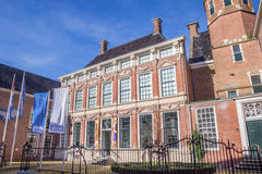 Palace Prinsessehof in the historical center of Leeuwarden. Netherlands royalty free stock photo