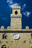 Palace of Priors   Volterra  italian medieval village Royalty Free Stock Images
