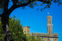 Palace of Priors  Volterra  italian village Royalty Free Stock Images