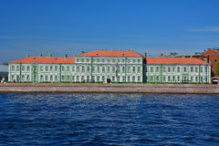 Palace of Pyotr II on Universitetskaya embankment in St. Petersburg, Russia royalty free stock photo