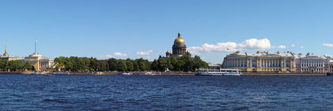 Palace quay in St. Petersburg royalty free stock photos