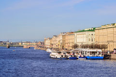 Palace Quay in St.Petersburg Stock Image