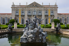 The Palace of Queluz is a Portuguese 18th-century palace located Royalty Free Stock Photo