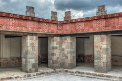 Palace of Quetzalpapalotl at Teotihuacan Royalty Free Stock Photos