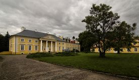 Palace in Racot. Palace in Greater Poland Voivodeship, in west-central Poland Stock Images