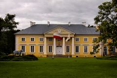 Palace in Racot. Palace in Greater Poland Voivodeship, in west-central Poland Royalty Free Stock Photo