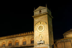 Palace of Reason by night in Mantua, Italy Royalty Free Stock Image