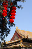 Palace and red lantern Royalty Free Stock Photography