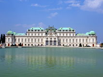 Palace reflecting on water. Belvedere palace reflecting on water Stock Image
