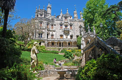 Palace Regaleira and beautiful garden in Sintra,Portugal. stock images