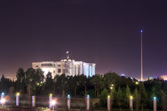 Palace of the Republic at night. Tajikistan, Dushanbe Royalty Free Stock Photos