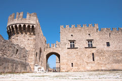 Palace in Rhodes island Royalty Free Stock Photos