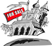 Home House for Sale, Cartoon Stock Image