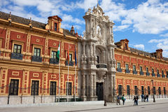 Palace of San Telmo in Seville Stock Photography