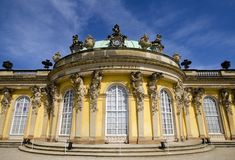 Palace of Sanssouci. The Palace of Sanssouci was the Residence of Frederick the Great, King of Prussia, in Potsdam Stock Photo