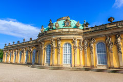Palace of Sanssouci, Potsdam, Germany. The palace of Sanssouci (Schloss Sanssouci) - residence of Frederick the Great, King of Prussia in Potsdam, near Berlin Stock Photo