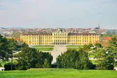 Palace of Schoenbrunn in Vienna Stock Photo