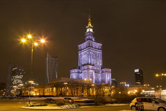 The Palace of Science and Art in Warsaw. Poland royalty free stock image