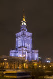 The Palace of Science and Art in Warsaw,. Poland stock photos