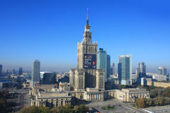 Palace of science and culture. In Warsaw stock photo
