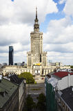 Palace of Science and Culture in Warsaw by day. View on Palace of Science and Culture in Warsaw by day royalty free stock photos