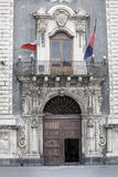 Palace of the Seminary of the Clerics, Catania. Sicily, Italy. Entrance Royalty Free Stock Photography