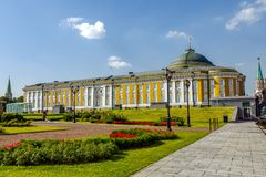 Palace of the Senate. The Kremlin wall. Putin`s residence. royalty free stock photos